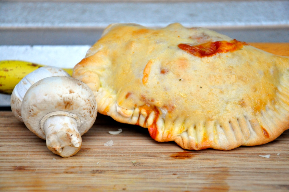 Whole calzone w mushrooms
