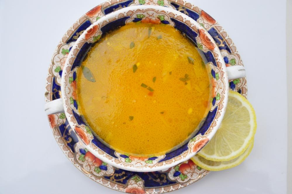 close-up sesame soup