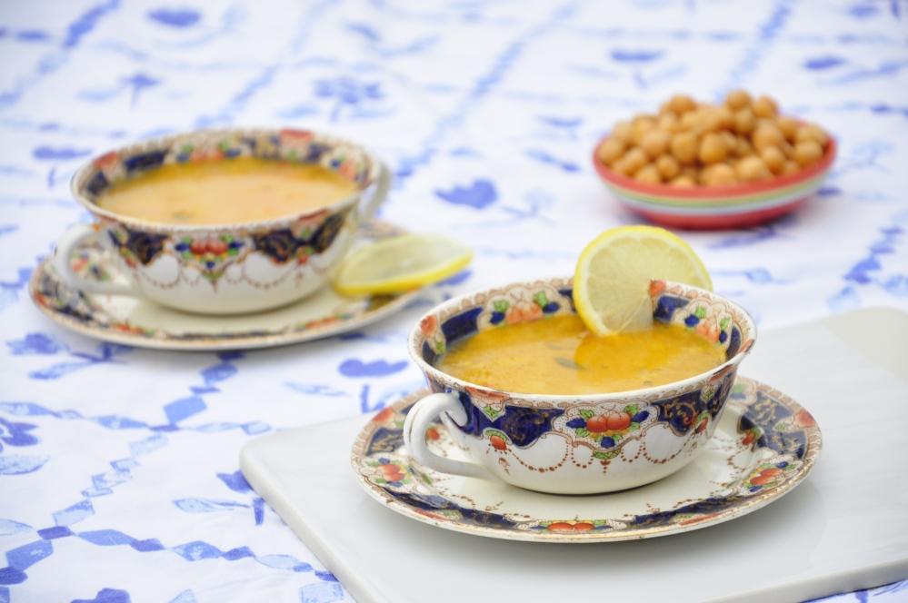 Cumin and sesame soup shot