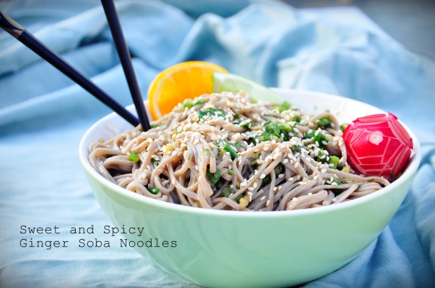 Sweet and Spicy Ginger Soba Noodles