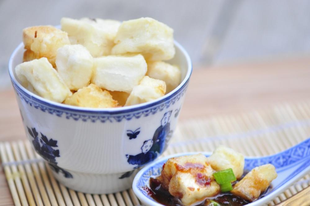 Close-up Agedashi Tofu