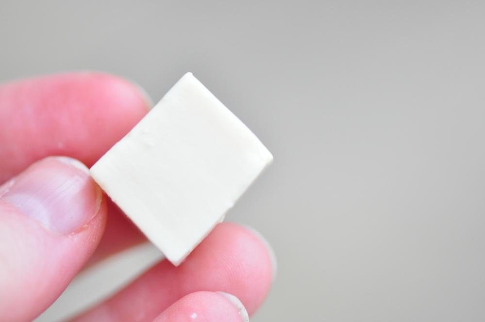 Silken tofu cube