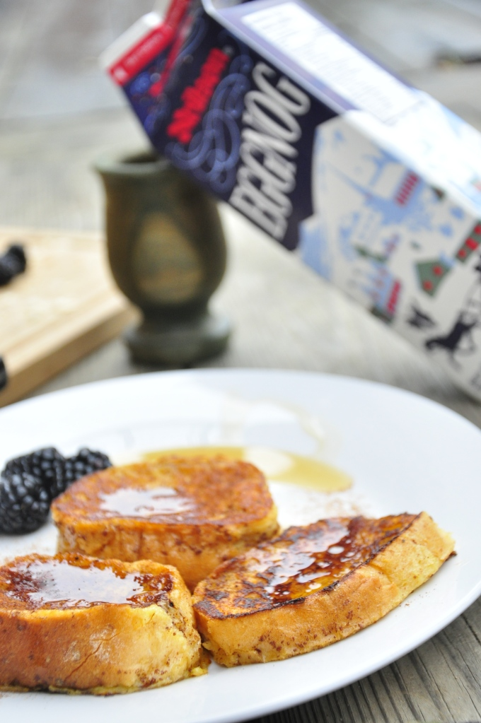 Vertical Eggnog French Toast