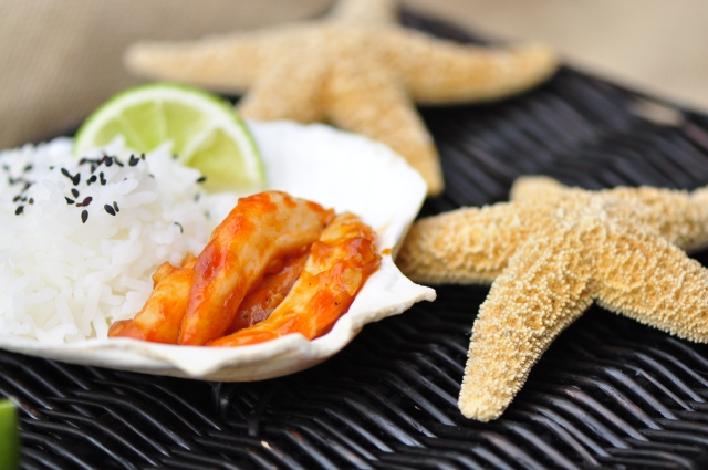 Pan-fried Spicy Szechuan Vegan Shrimp