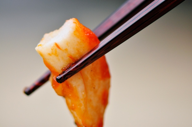 Close-up Vegan Shrimp