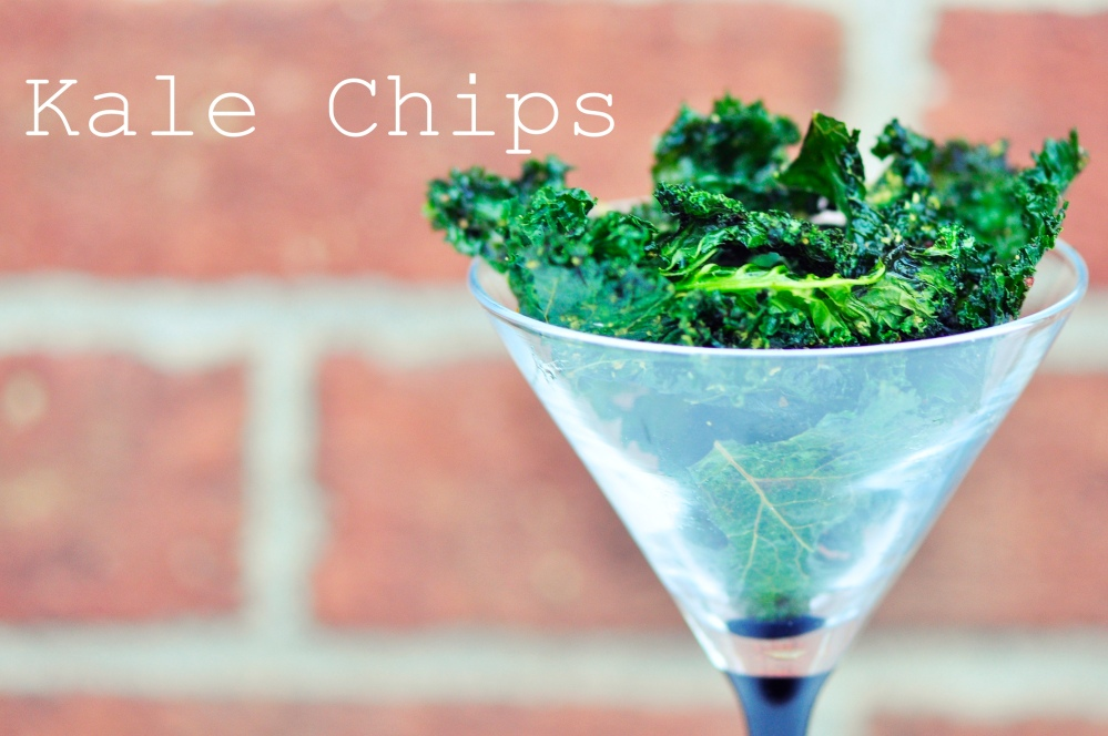 Kale Chips in a Glass