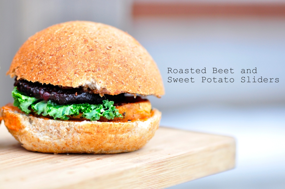 Roasted Beet and Sweet Potato Sliders
