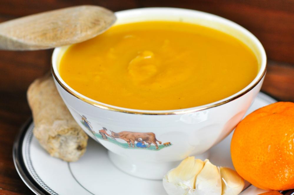 Close-up Sweet Potato Soup