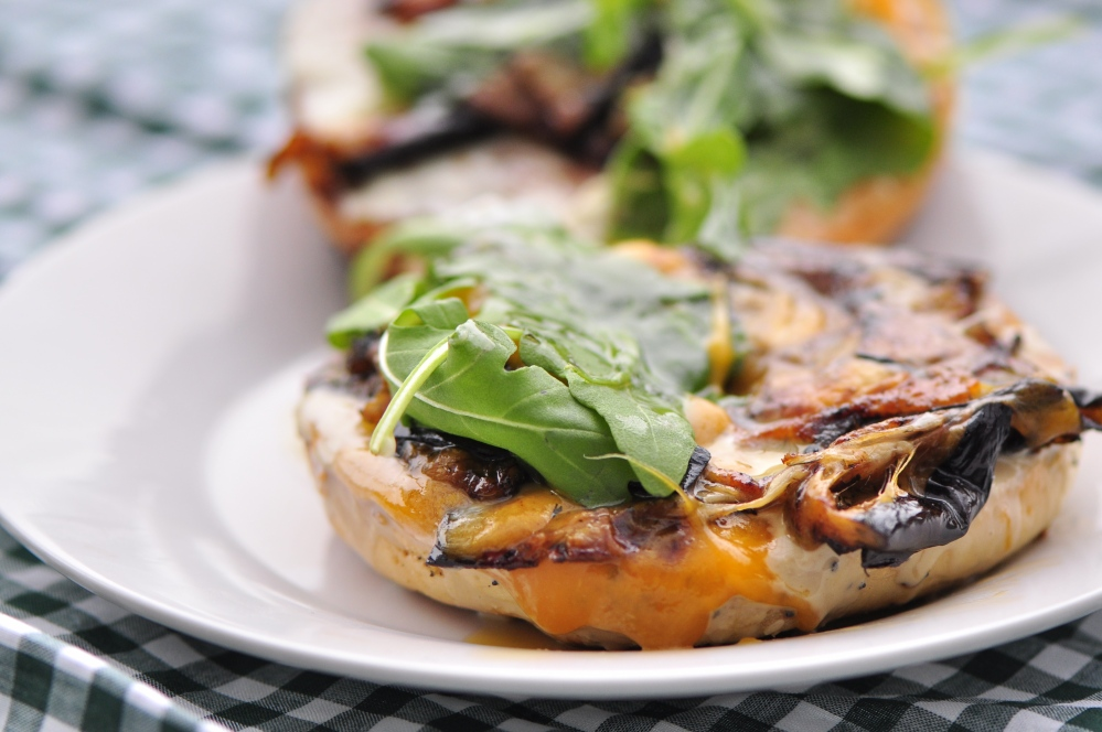 Open-Faced Bagel Sandwich