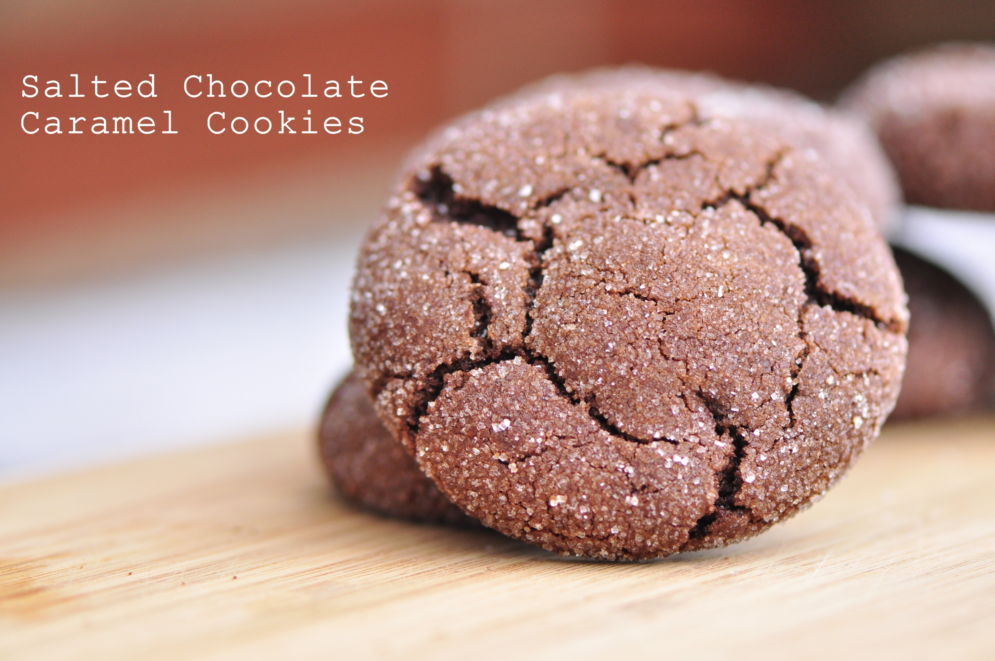Salted Chocolate Caramel Cookies | the vegetarian ginger