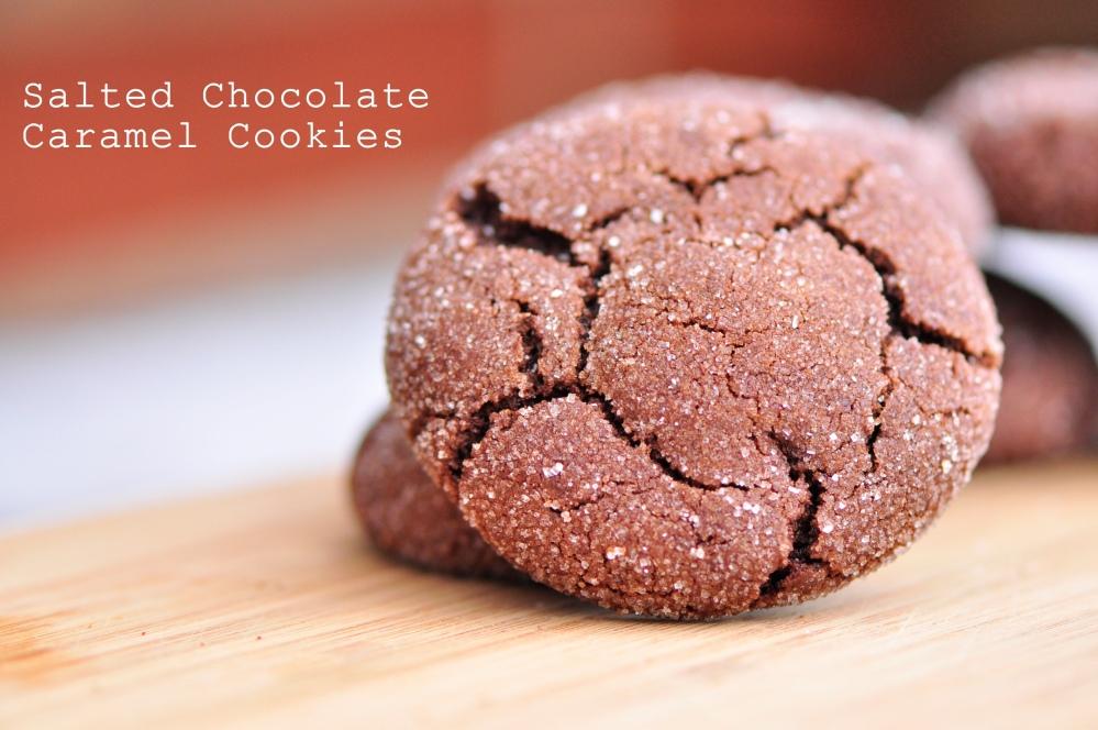 Salted Chocolate Caramel Cookies