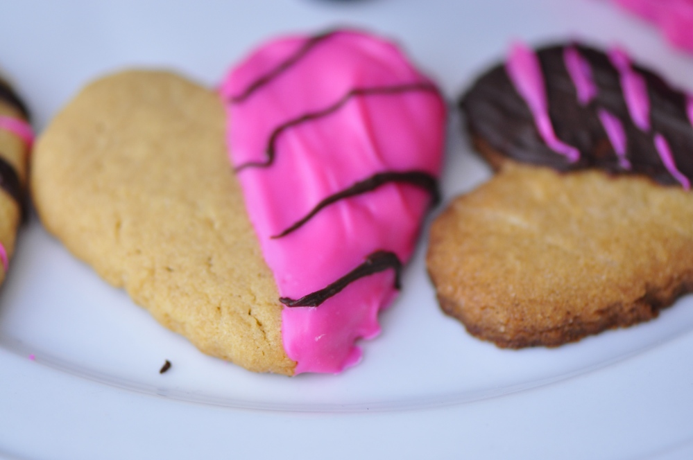 Chocolate Dipped Peanut Butter Cookie