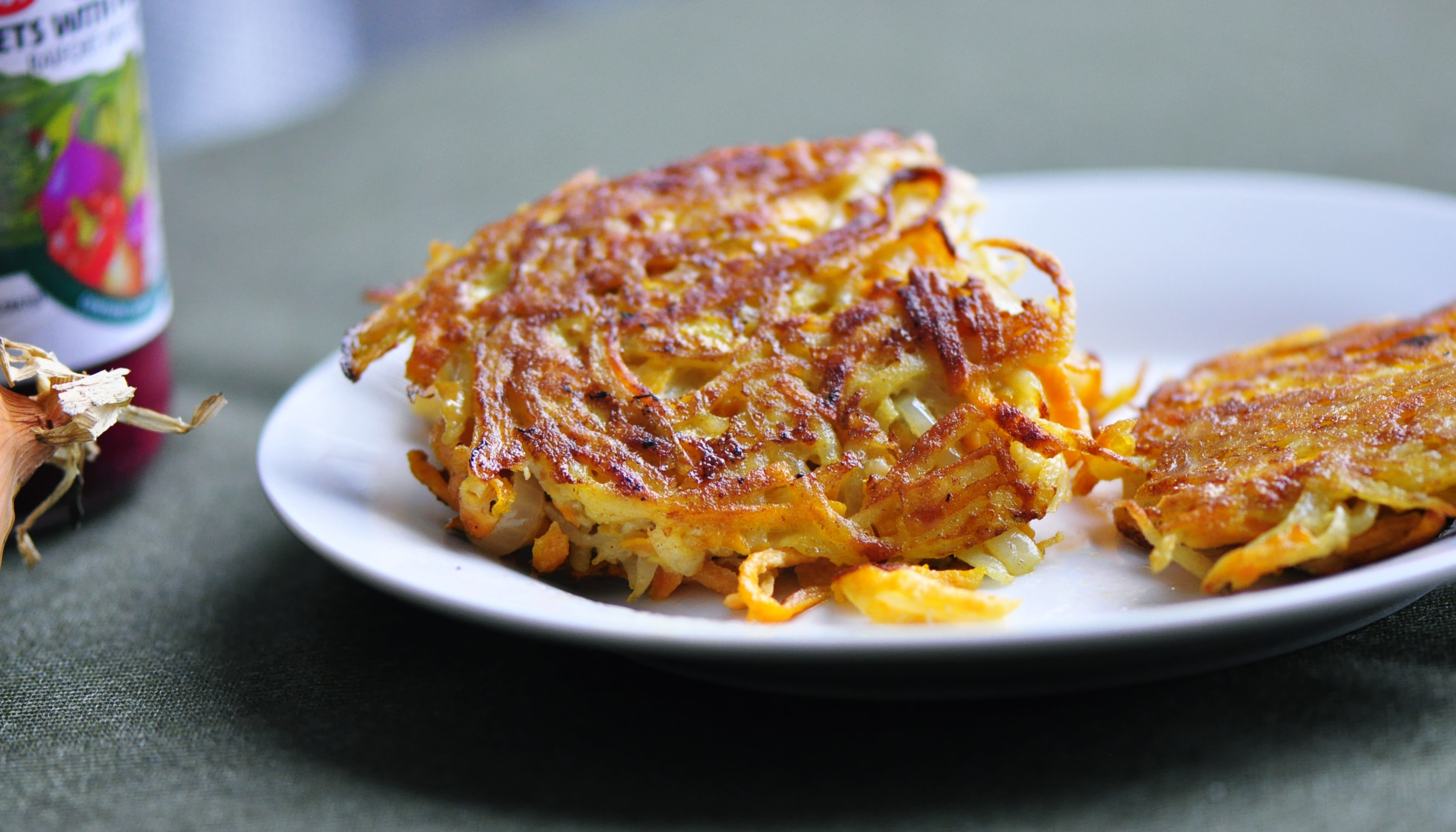 Sweet Potato Latkes with Onion