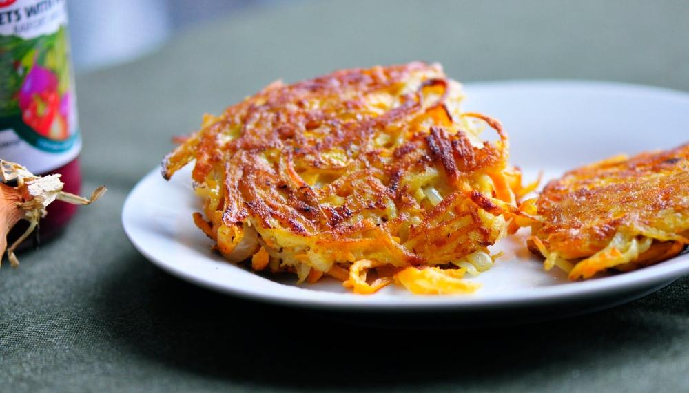 Sweet Potato Latkes with Onion