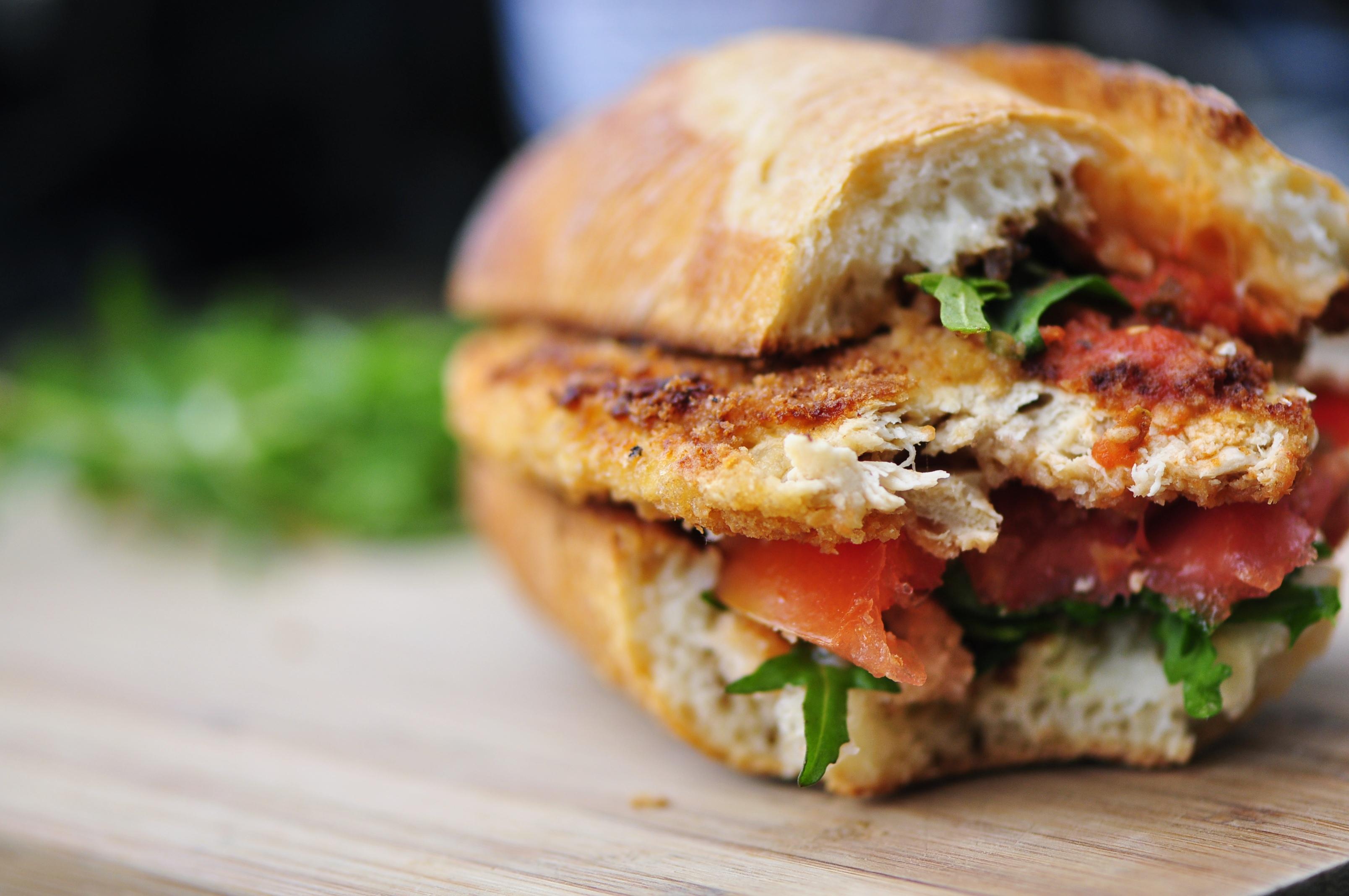 the vegetarian gingerVegan Veal ParmesanSandwichPost navigation
