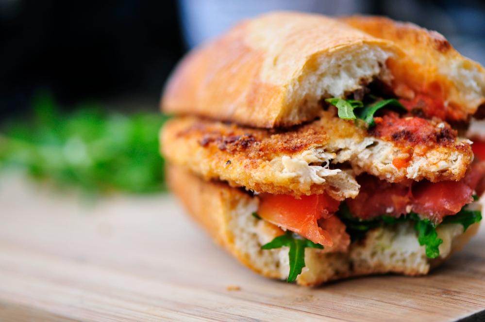 Vegan Veal Parmesan Sandwich