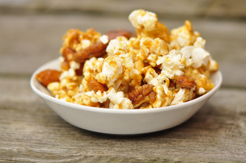 Caramel corn in Bowl