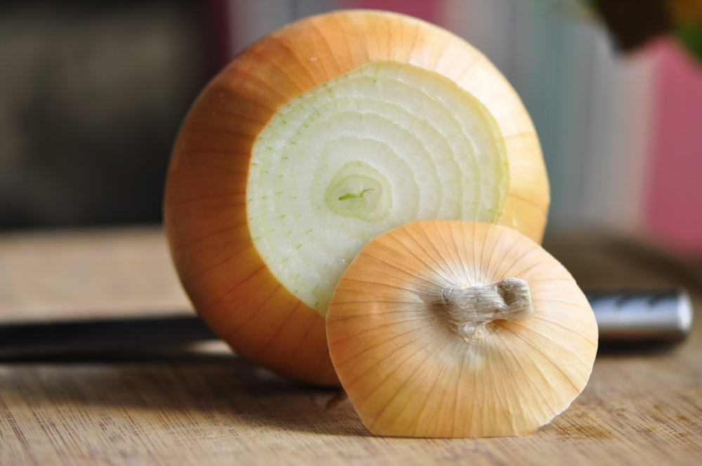 Top cut off onion