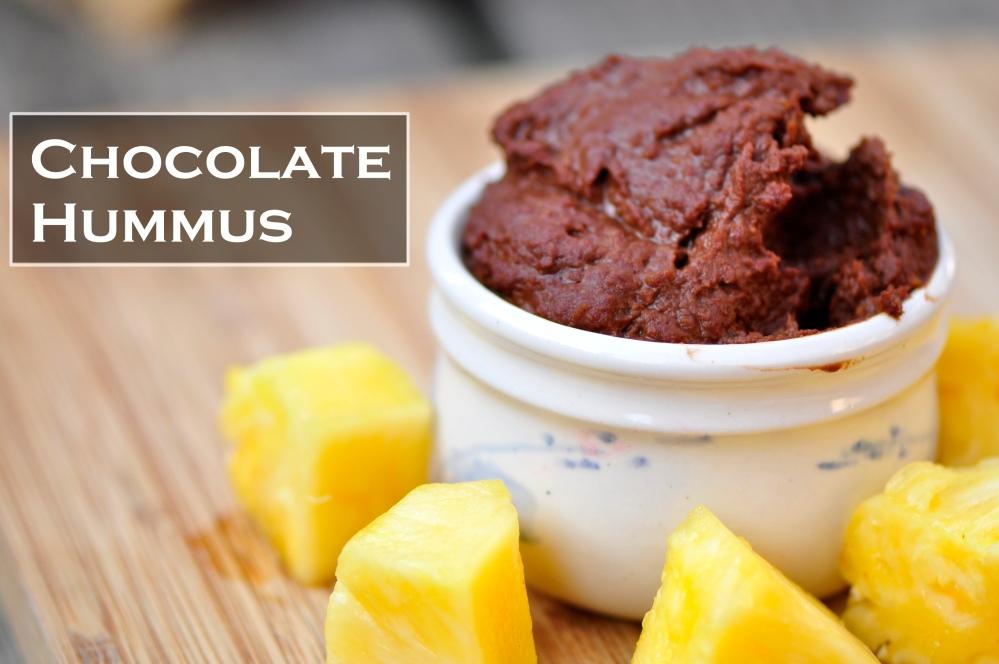 Chocolate Hummus Pineapple