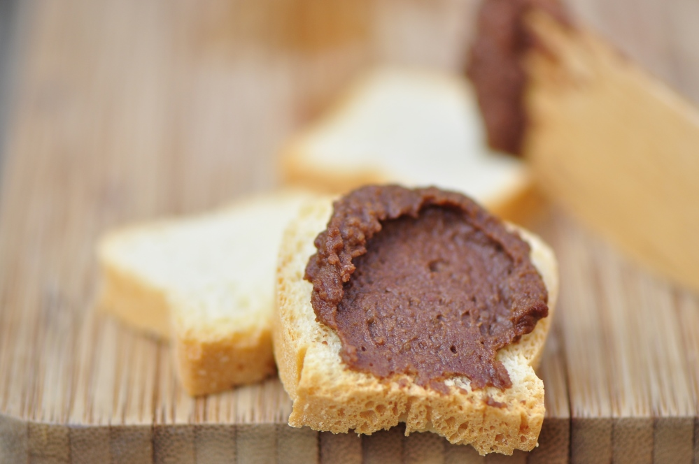 Chocolate Hummus on Mini Toast Crackers