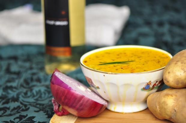 Potato and Red Onion Soup