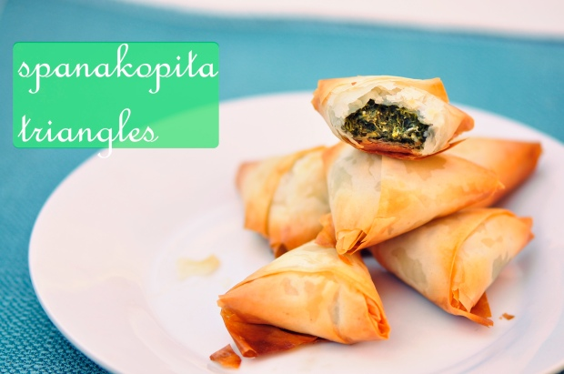 Vegetarian Spanakopita Triangles