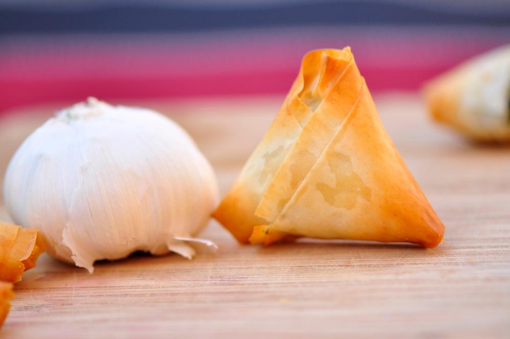 Garlic and Spanakopita Triangle