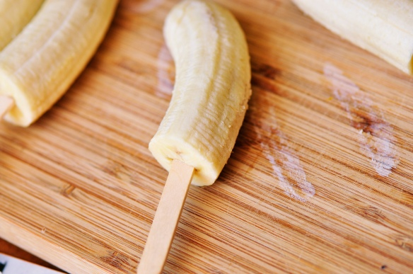 Frozen Banana Halved