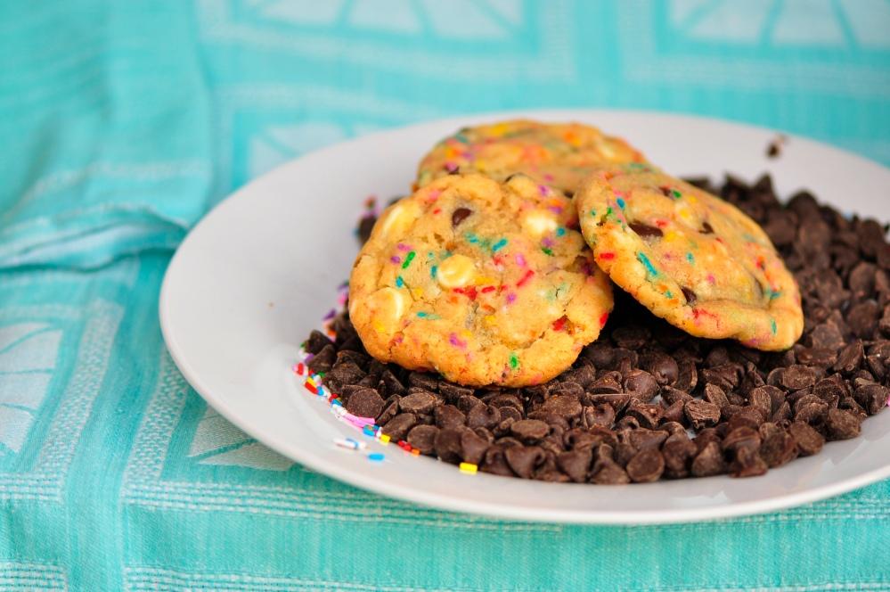 Platter of Cake Batter Cookies