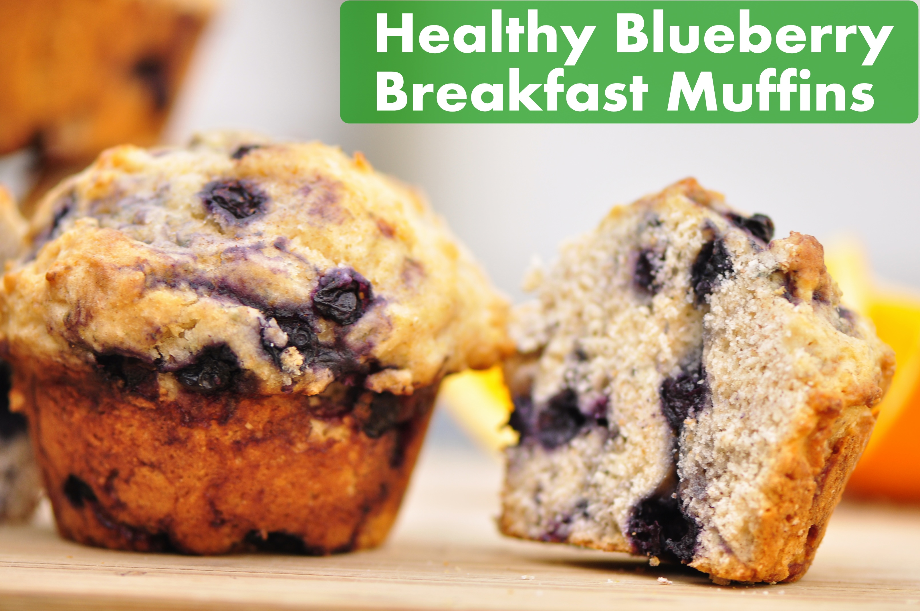 Healthy Blueberry Breakfast Muffins | the vegetarian ginger
