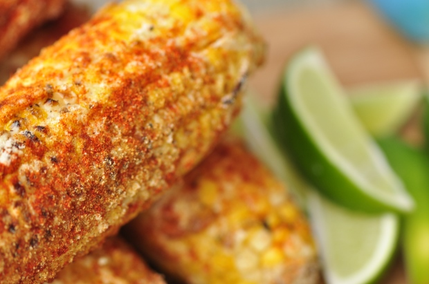 Close-up Mexican Grilled Corn