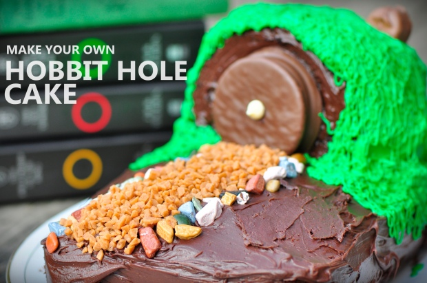 Hobbit Hole Cake with Text