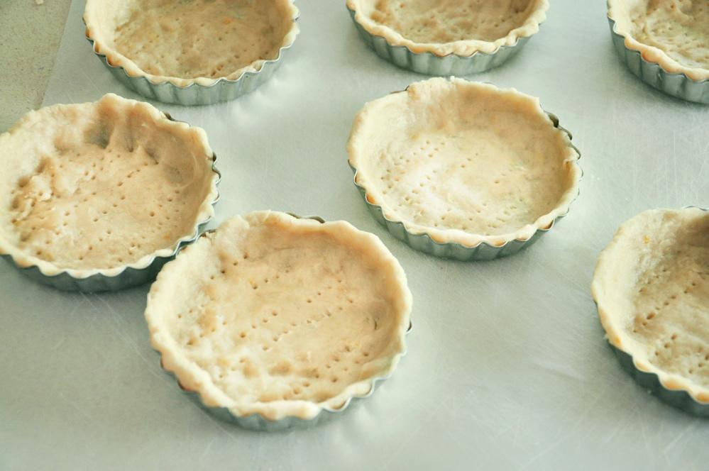 Unbaked tart crusts