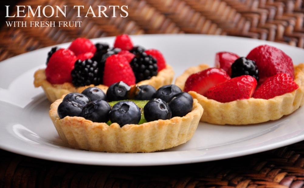 Lemon Tarts with Fresh Fruit