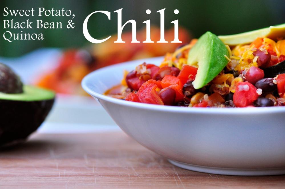 Sweet Potato, Black Bean and Quinoa Chili