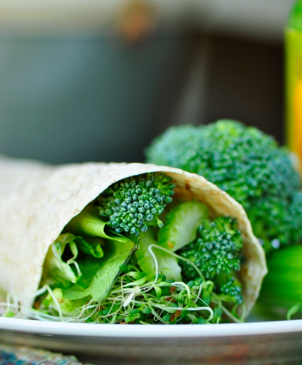 All Green Vegan Raw Wrap