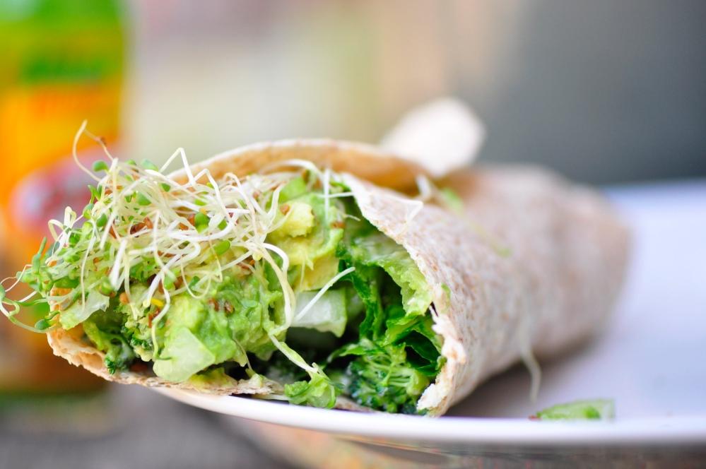 Raw Green Vegan Wrap