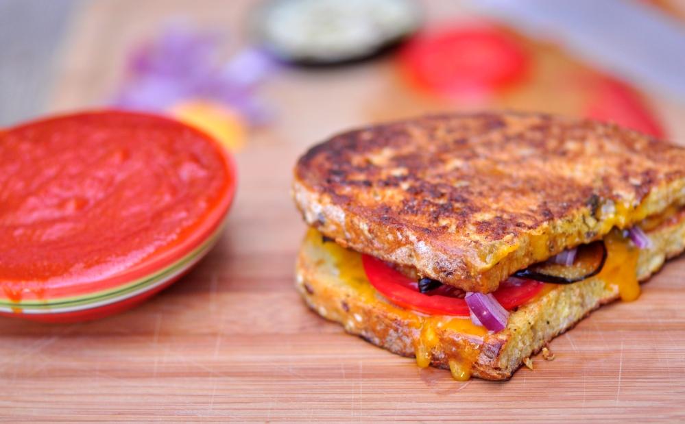 Savoury French Toast Breakfast Sandwich
