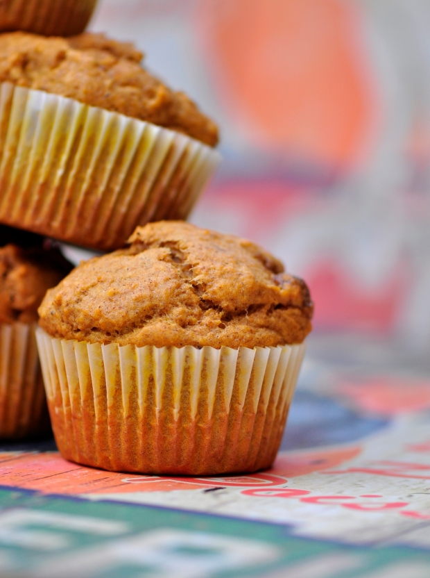 Vegan Almond Tofu and Pumpkin Spice Muffins