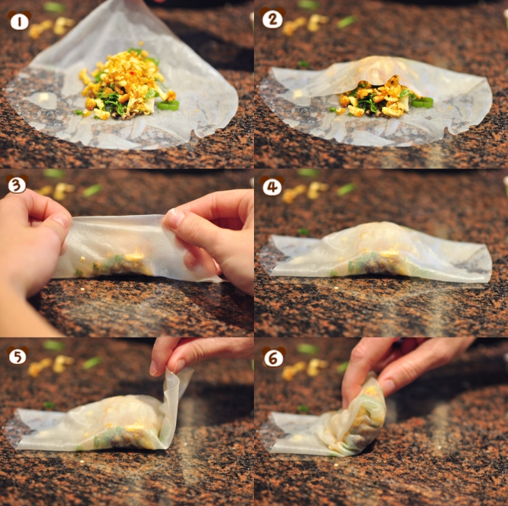 Fried Rice Paper Roll Instructions