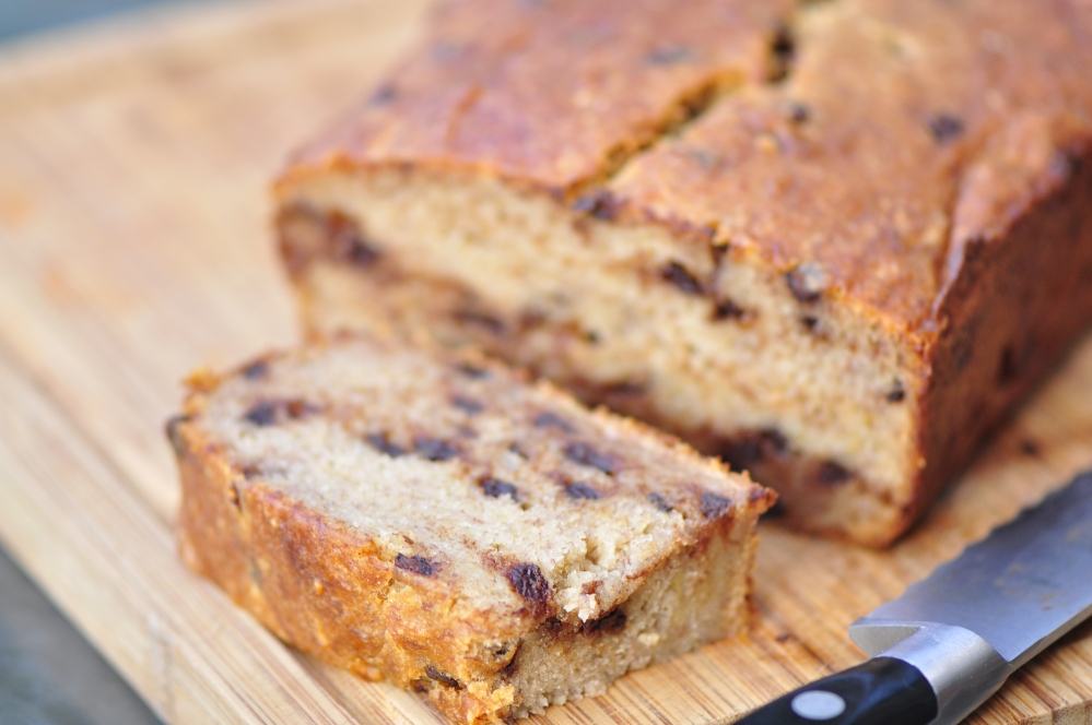 Gluten Free Banana Bread with Mini Chocolate Chips