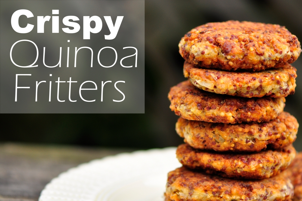 Crispy Quinoa Fritters with text