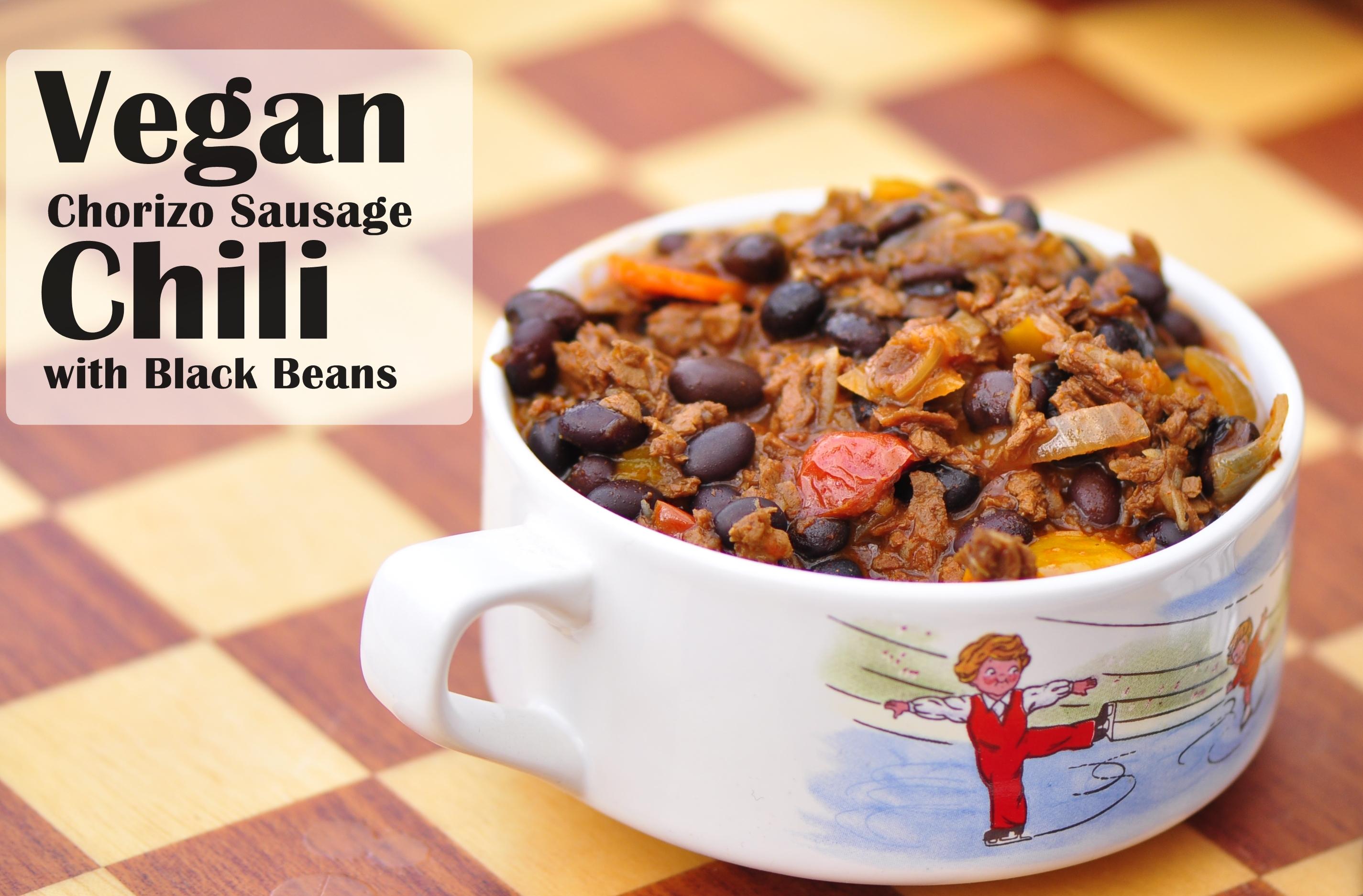 Vegan Chorizo Sausage Chili with Black Beansthe vegetarian ginger