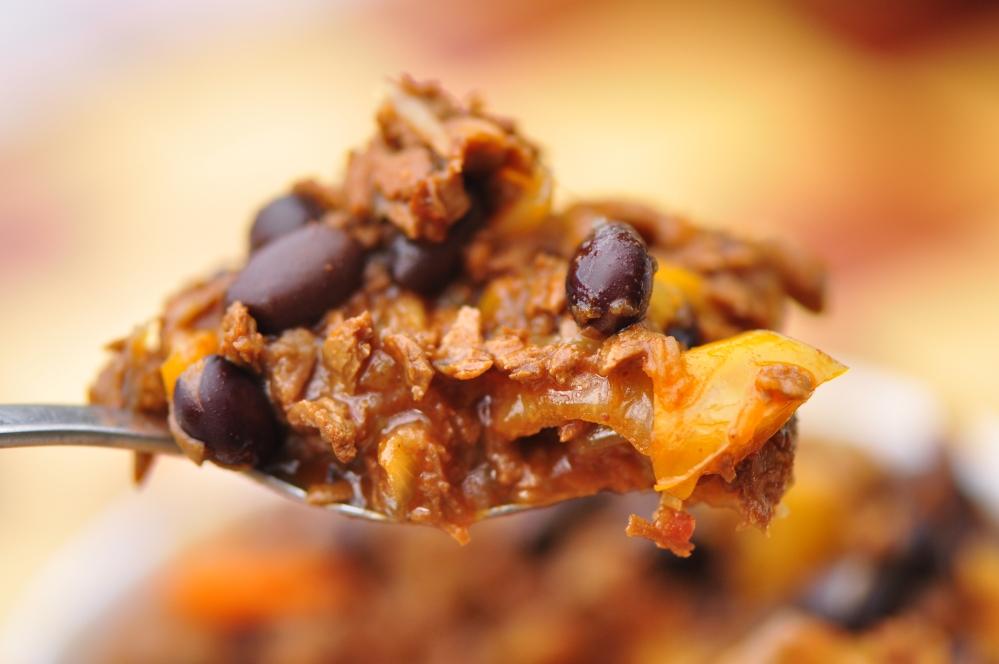 Close-up Vegan Chili