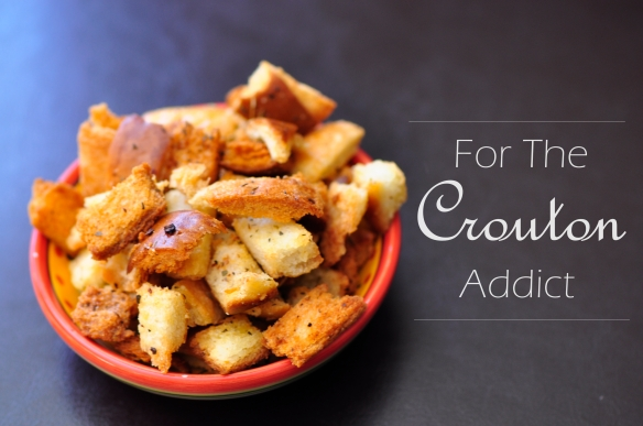 Homemade Bread Crust Croutons