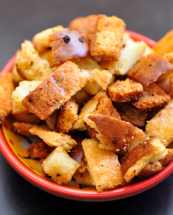 Bread Crust Croutons