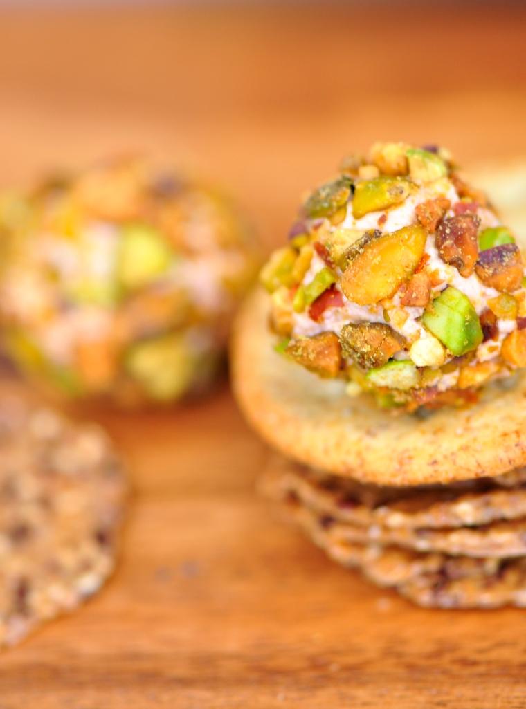 Savoury Pistachio Truffles