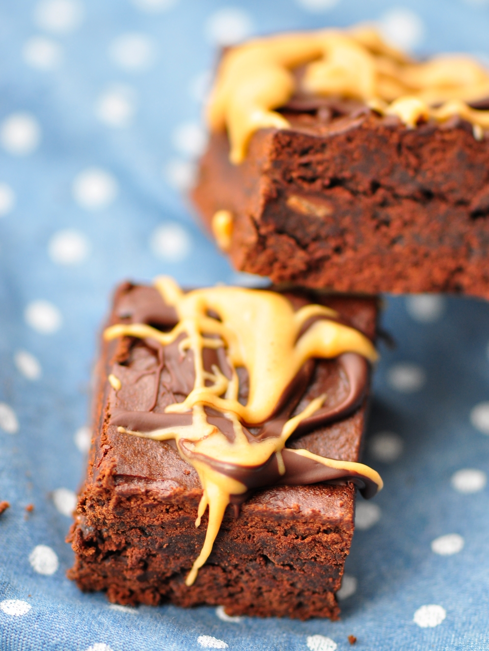 Flourless Peanut Butter Brownies