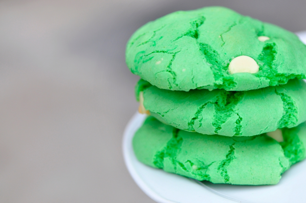Green Cake Batter Cookies