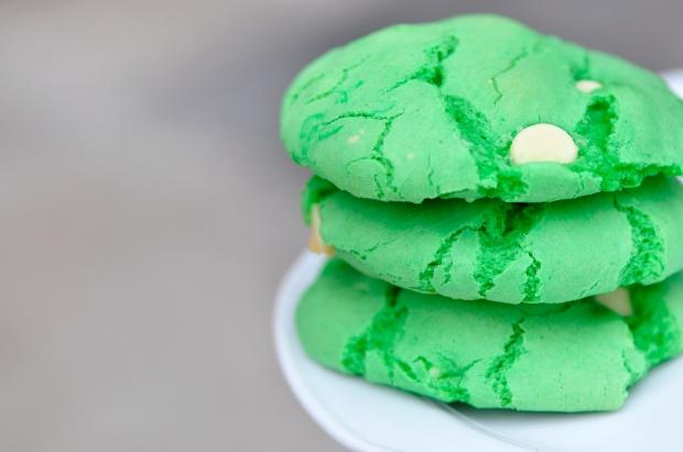 Green Cake Batter Cookies
